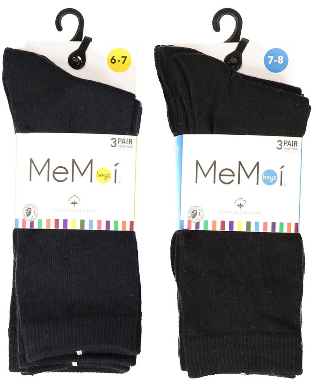 Memoi Boys 3 Pair Flat Socks