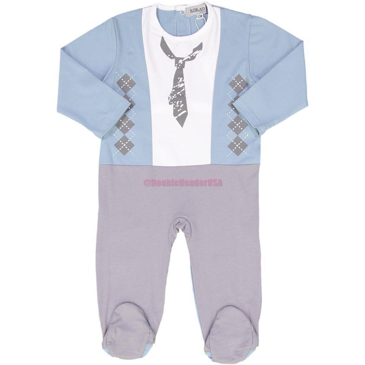Kokao Baby Boys Cotton Stretchie - BS1904B