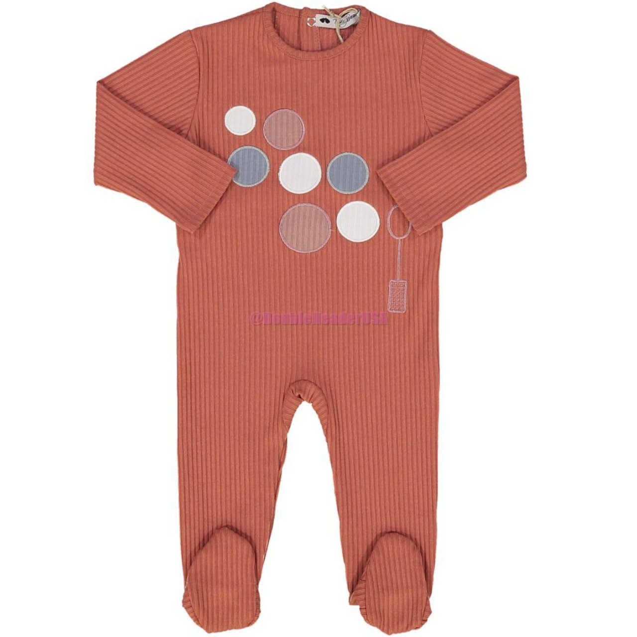Teddy Bear Baby Girls Cotton Stretchie - R1BBG