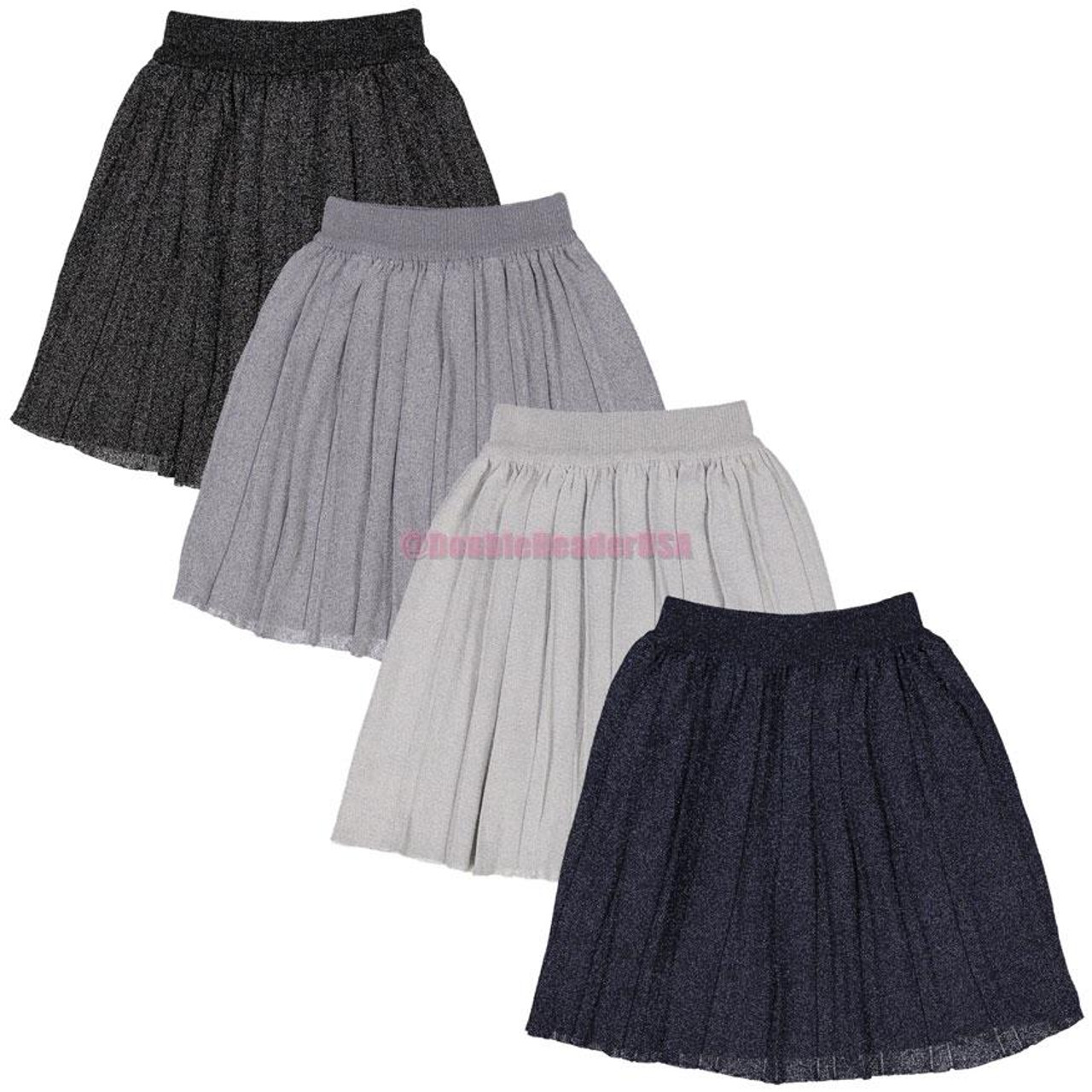 BGDK Girls Pleated Shimmer Skirt