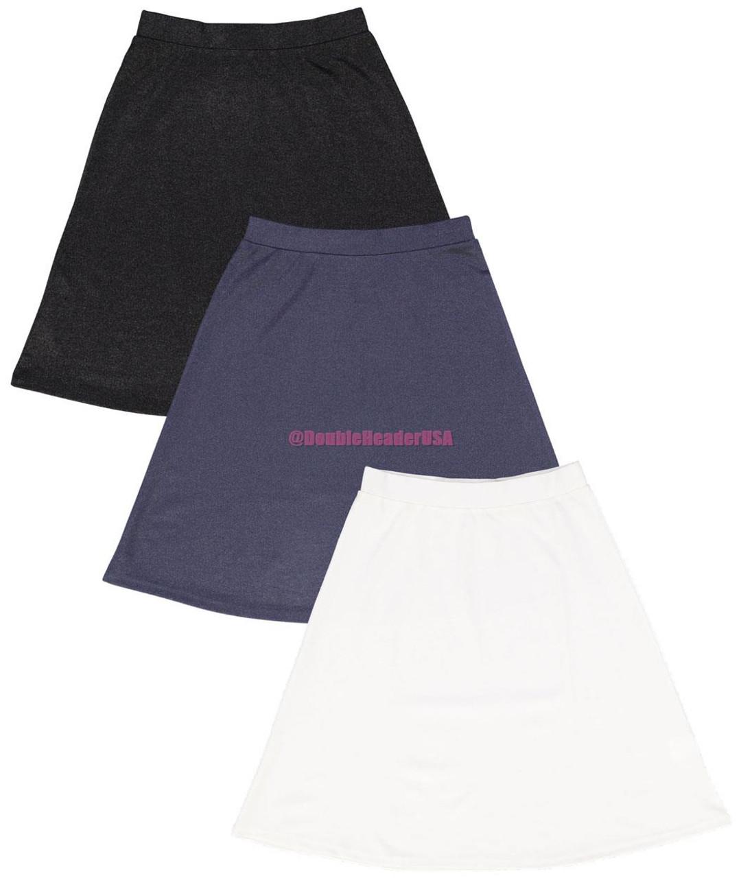 BGDK Women's Shiny A-Line Skirt