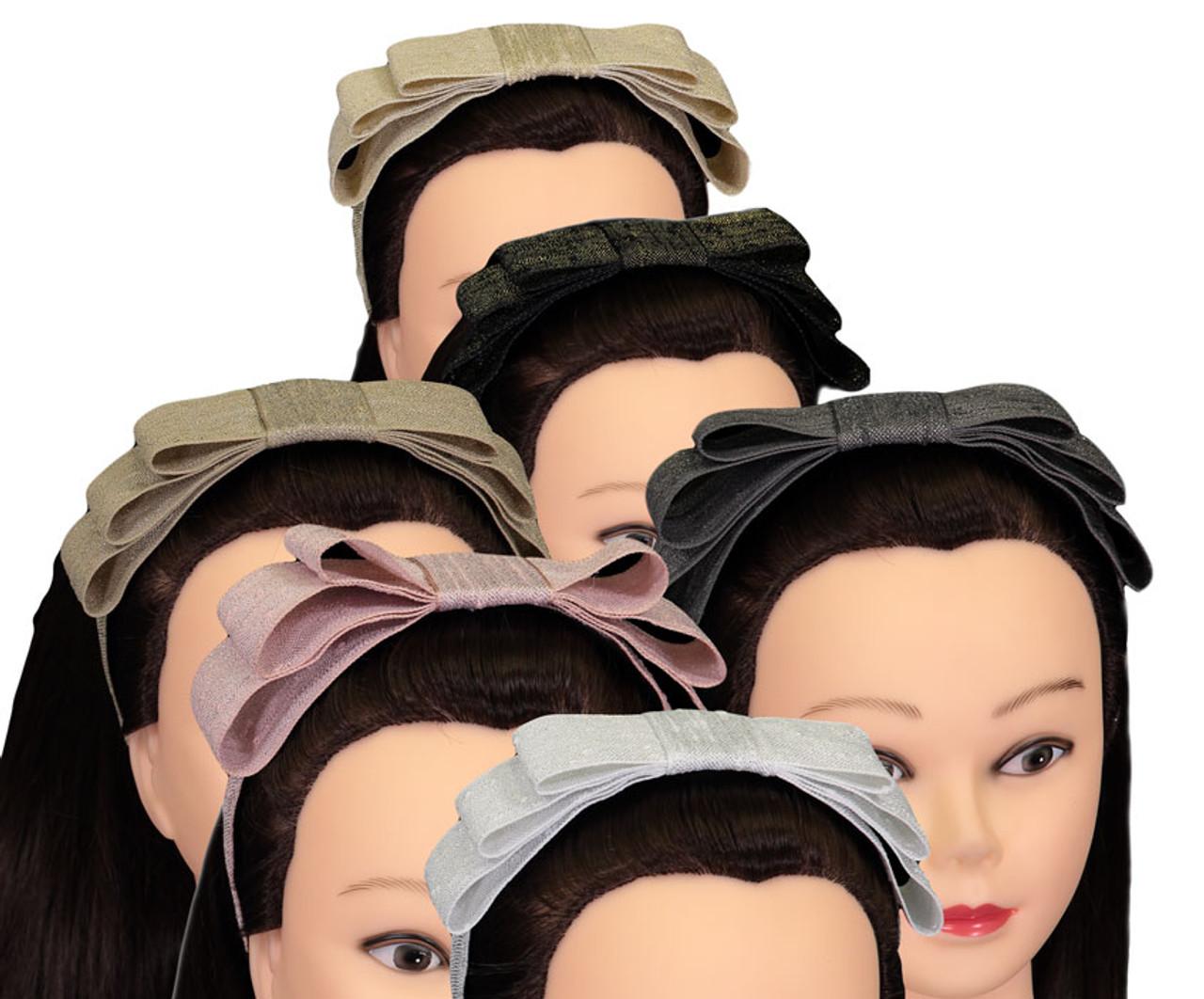 Riqki Flat Metallic Linen Headband