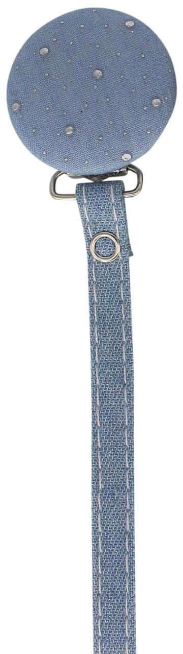 Crystal Dream Pacifier Clip - RDN19, Light Blue