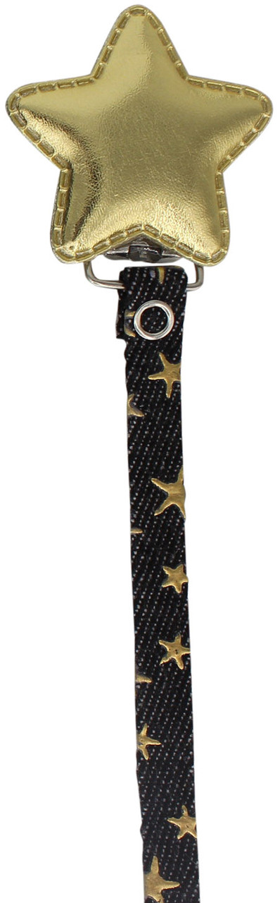 Crystal Dream Pacifier Clip - RDS19, Black