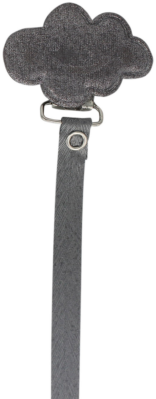 Crystal Dream Pacifier Clip - RMC19, Gray
