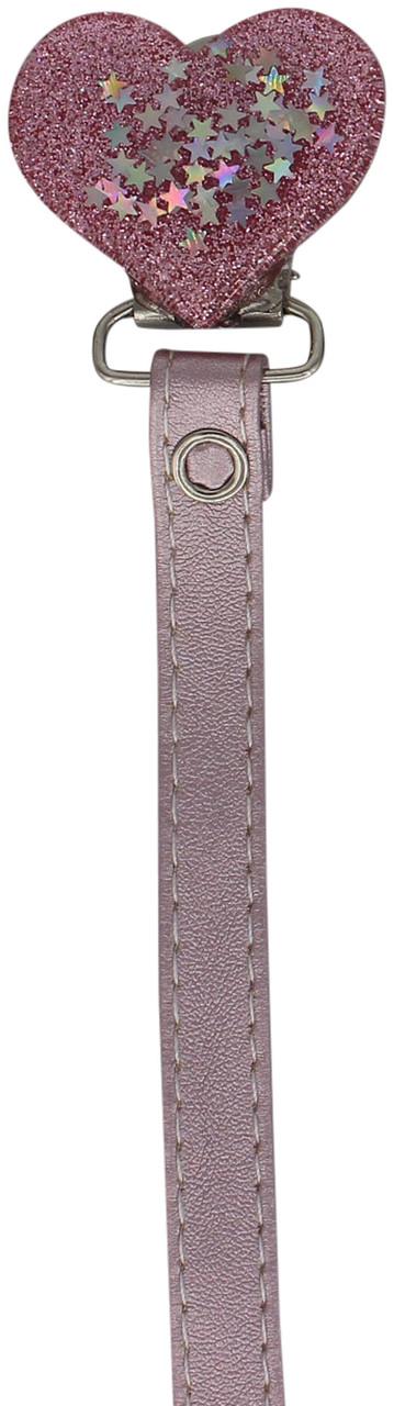 Crystal Dream Pacifier Clip - RRH19, Pink