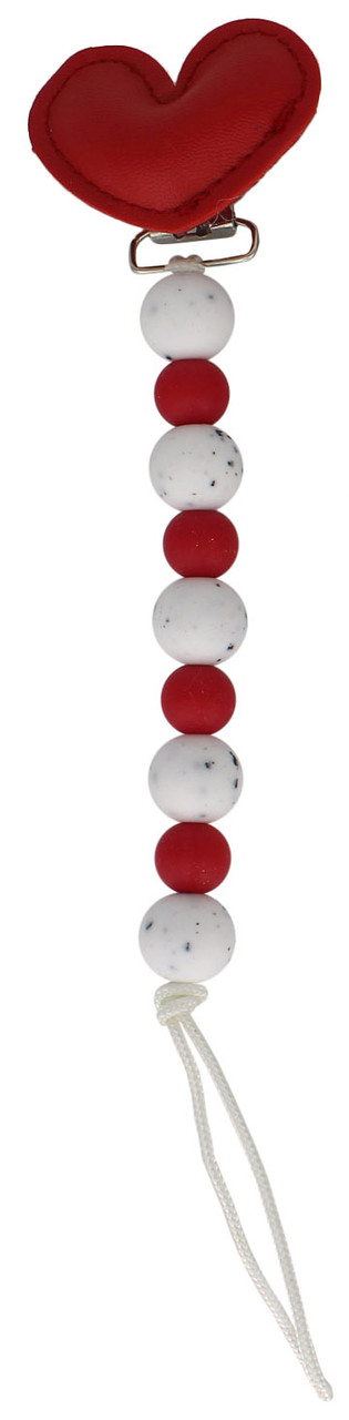 Crystal Dream Pacifier Clip - SCLH, Red
