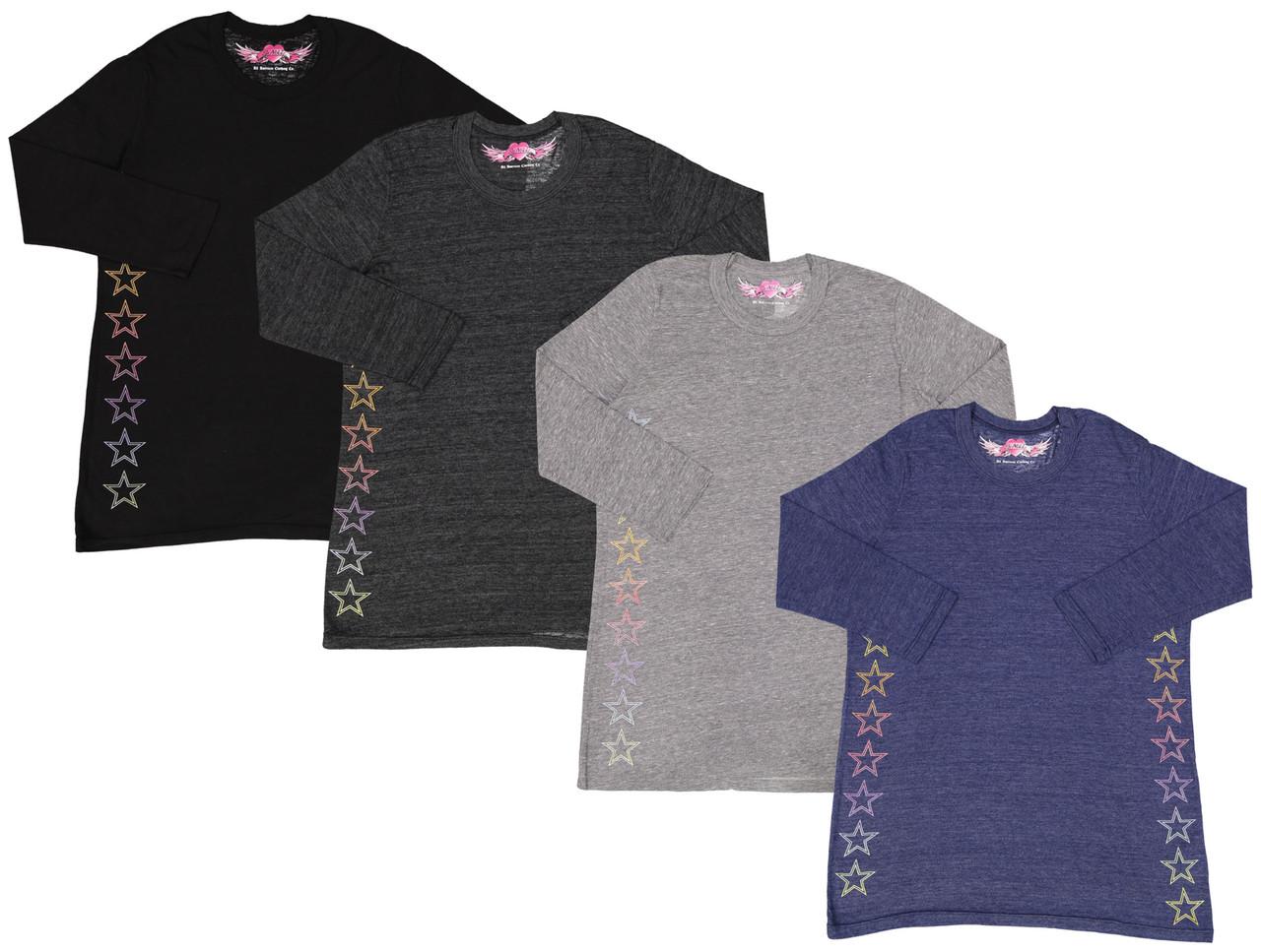 So Nikki Womens 3/4 Sleeve T-shirt - 1255J-P554B