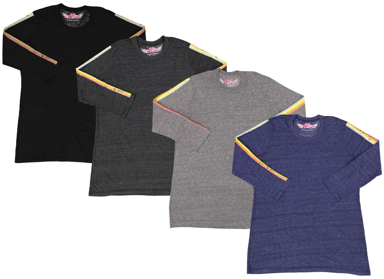 So Nikki Girls 3/4 Sleeve T-shirt - 1255K-P556