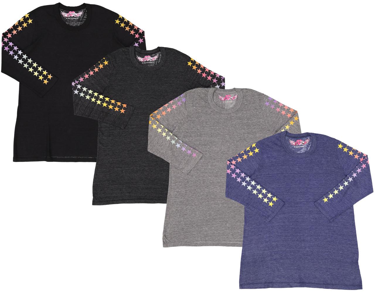 So Nikki Girls 3/4 Sleeve T-shirt - 1255K-P555