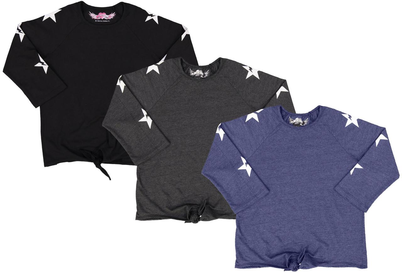 So Nikki Girls 3/4 Sleeve T-shirt - 1288K-P561A