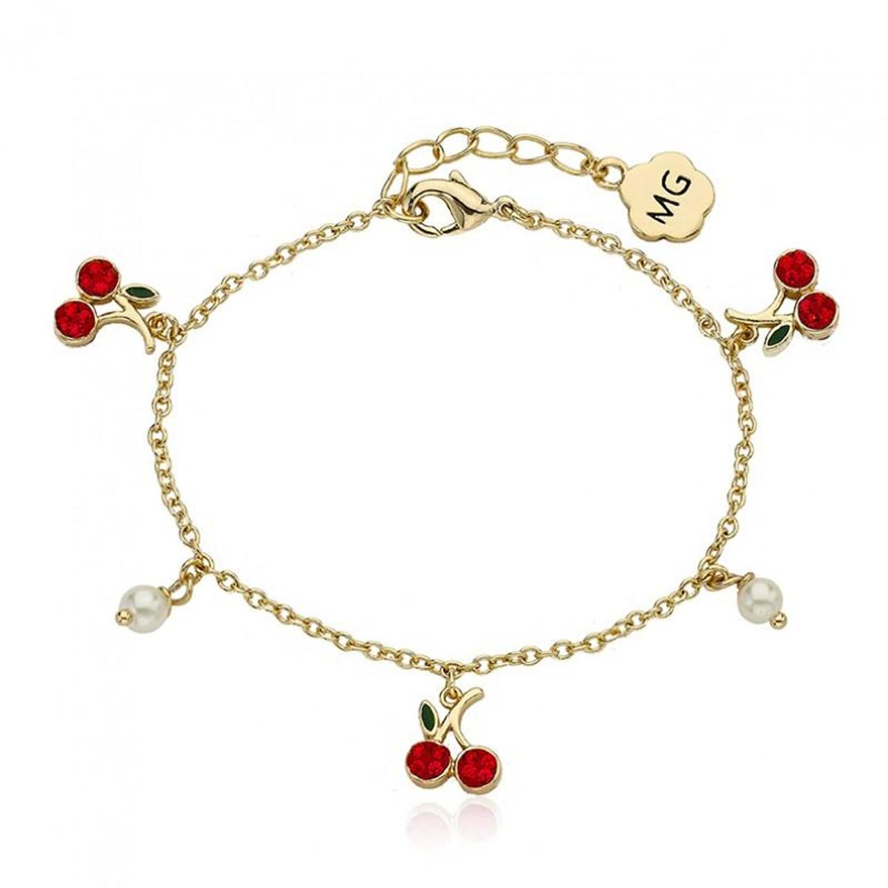 Molly Glitz Girls Cherry Delight Bracelet