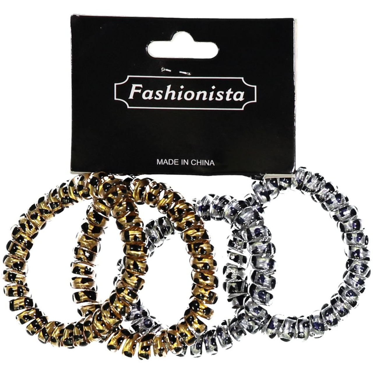 Fashionista Animal Print Ponytail Holders