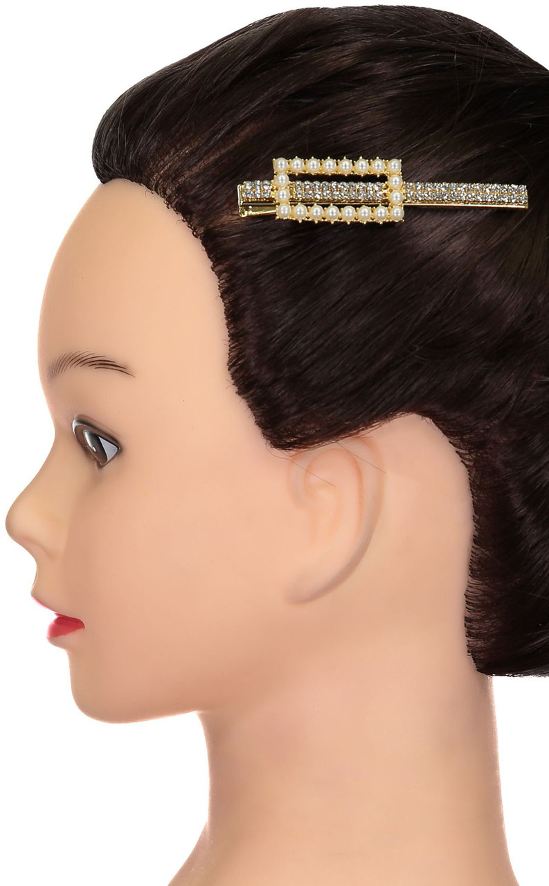 Riqki Pearl Rectangle Hair Clip