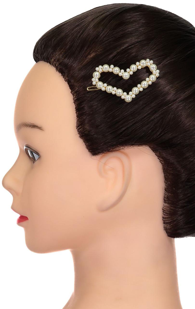 Riqki Pearl Heart Hair Clip