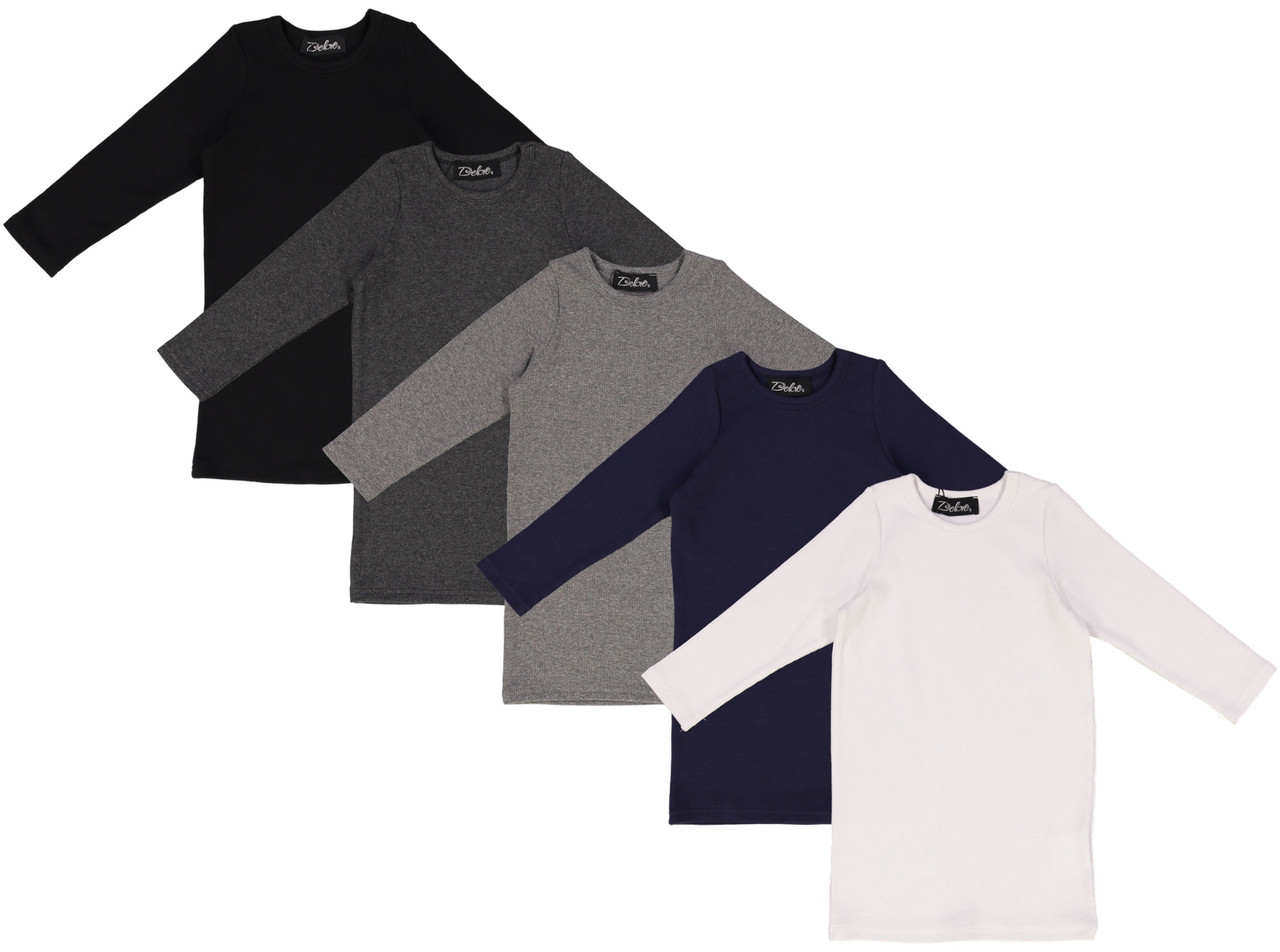 Delore Girls Ribbed 3/4 Sleeve T-Shirt