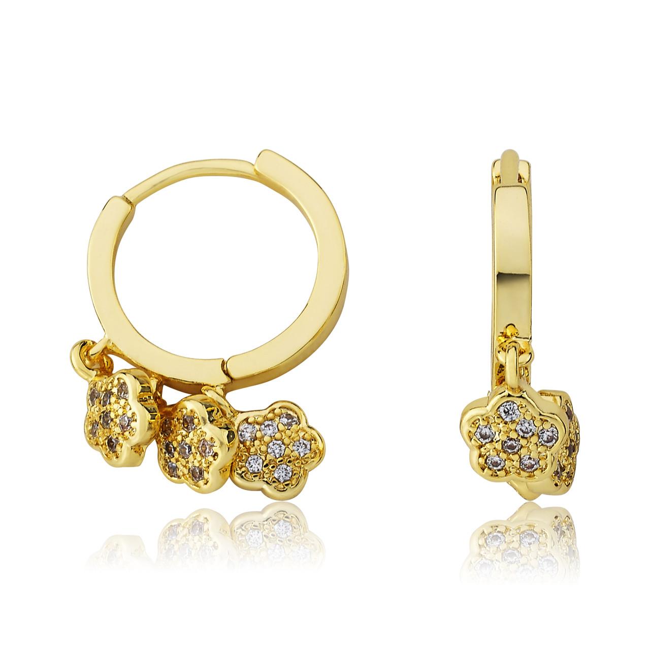 LMTS Girls CZ Flowers Dangle Earring