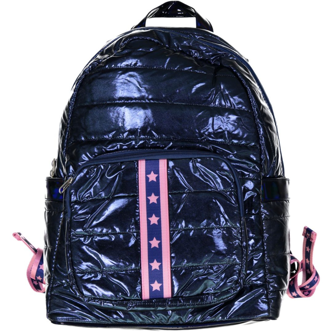 Top Trenz Pink Stars Backpack