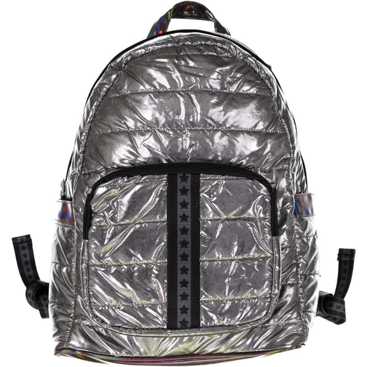 Top Trenz Black Stars Backpack