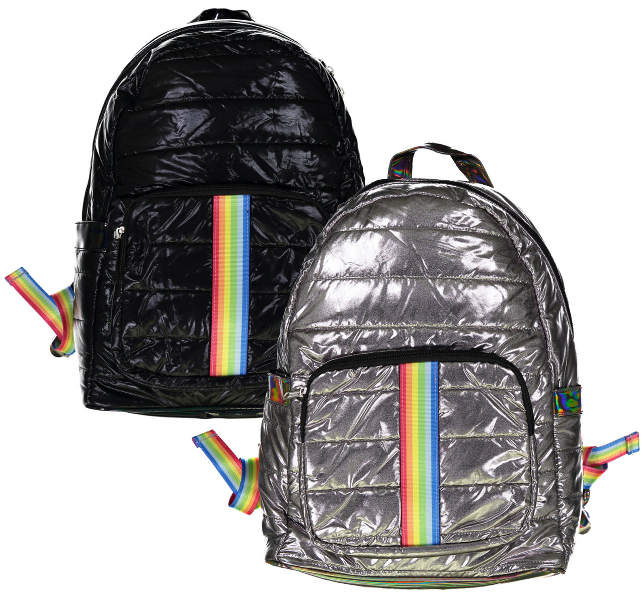 Top Trenz Rainbow Stripes Backpack