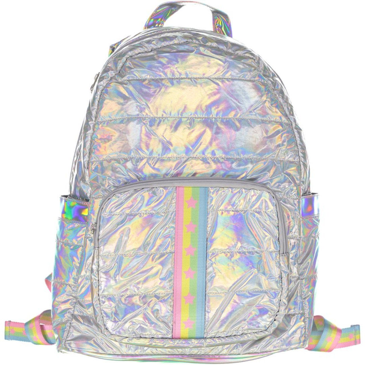 Top Trenz Pink Stars/Pastel Stripes Backpack