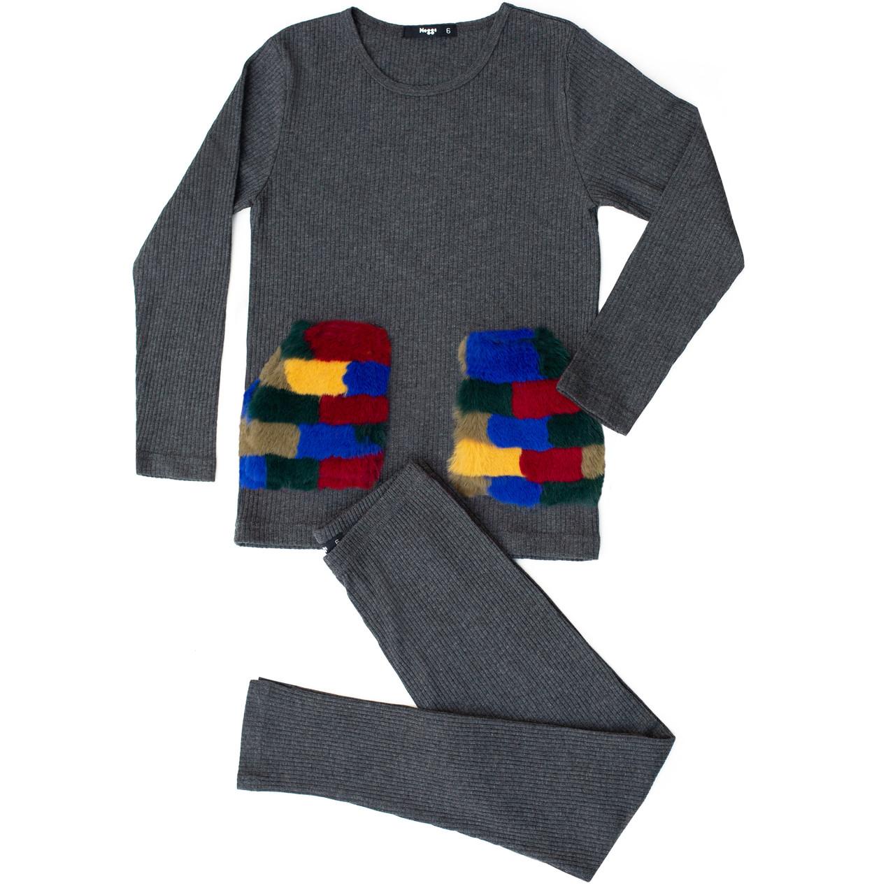 Noggi Boys Fur Patch Cotton Pajamas