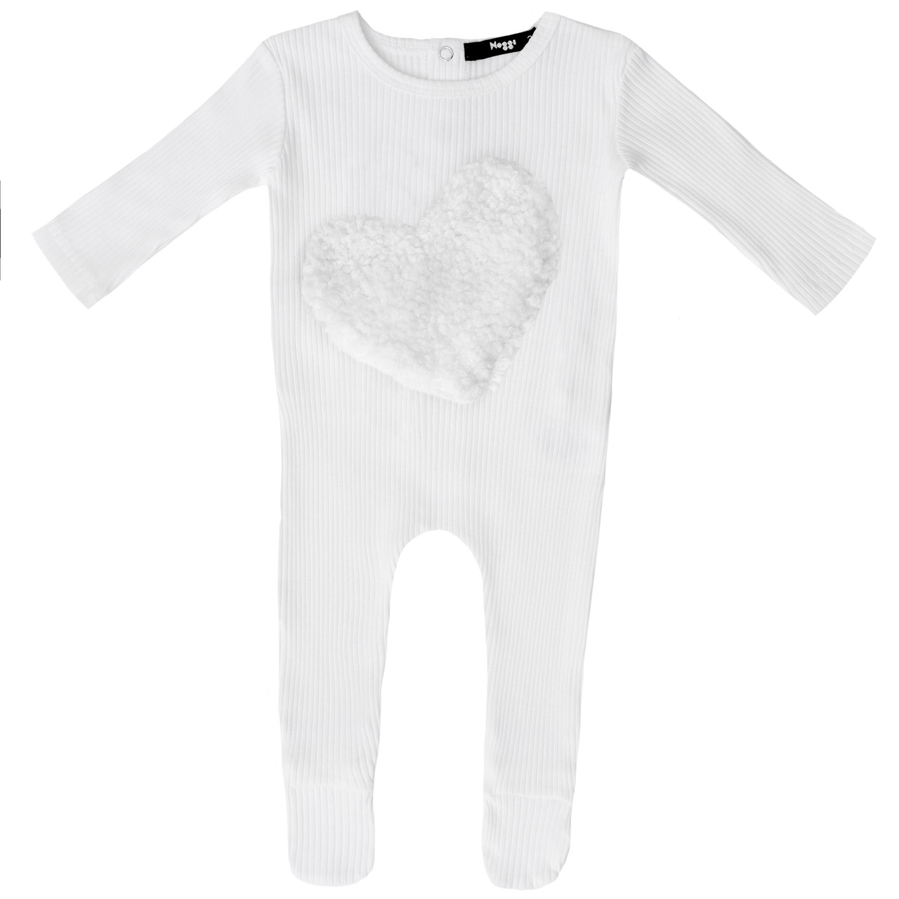 Noggi Girls Ribbed Heart Cotton Stretchie
