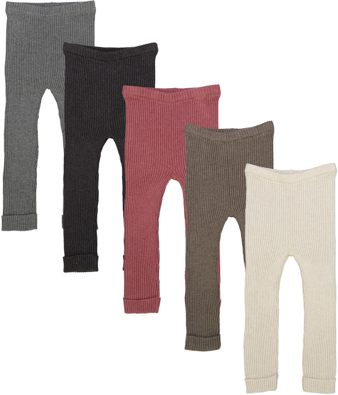 Analogie by Lil Legs Boys Girls Unisex Winter Ribbed Knit Leggings