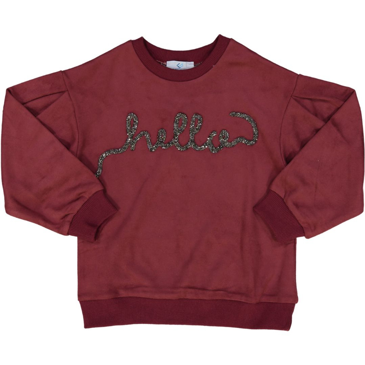Whitlow & Hawkins Girls Suede Sweatshirt - WHF198007