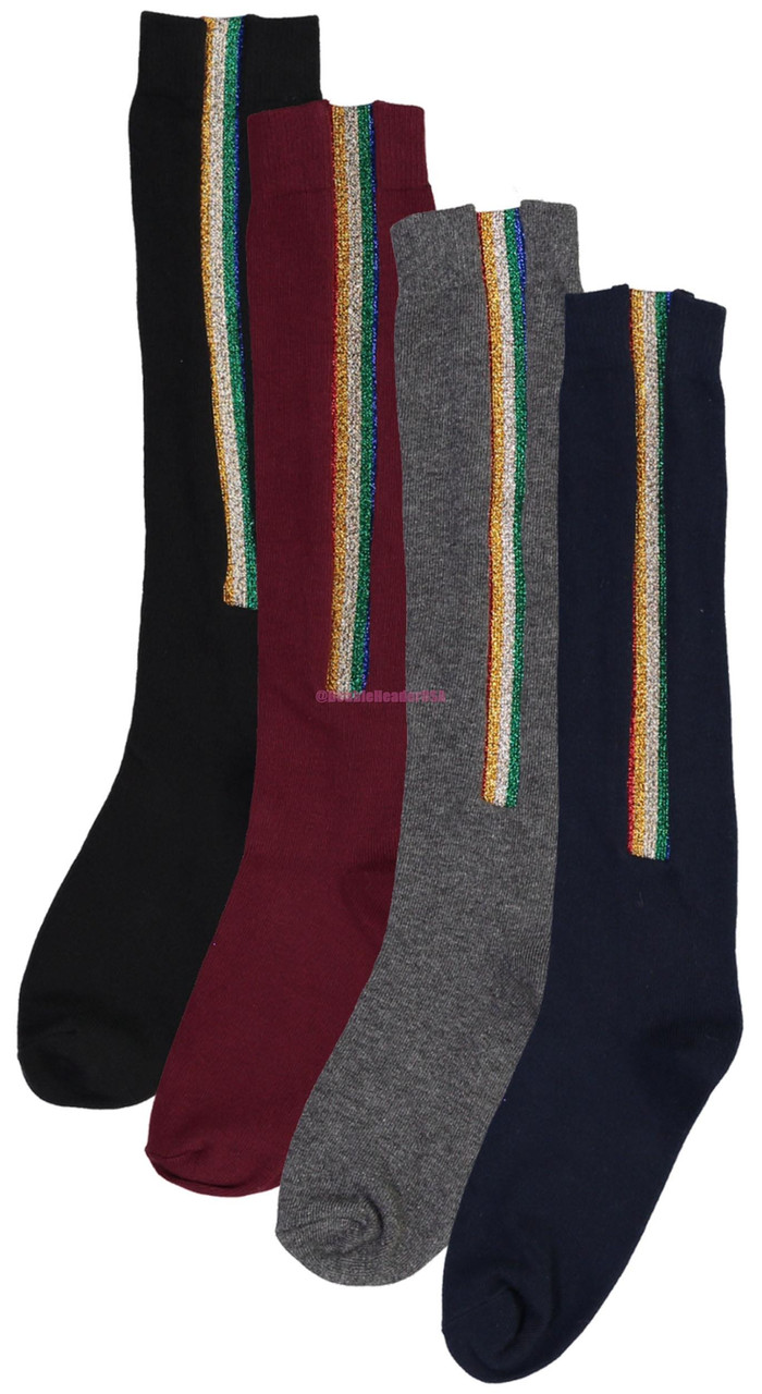 BlinQ Girls Rainbow Strip Knee High Socks - 2019512