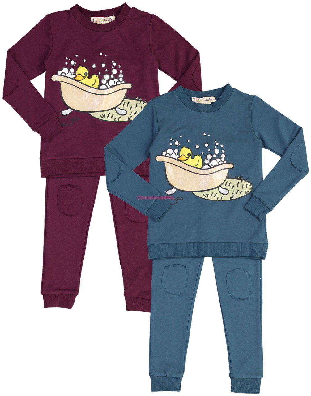 Teela Boys Girls Unisex Fur Duckie Pajamas - PJAW19-1A