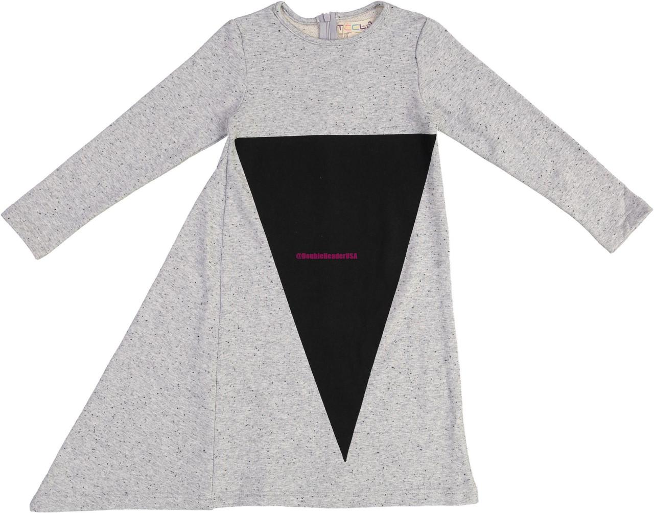 Teela Girls Triangle Asymmetrical Triangle Dress - 9011