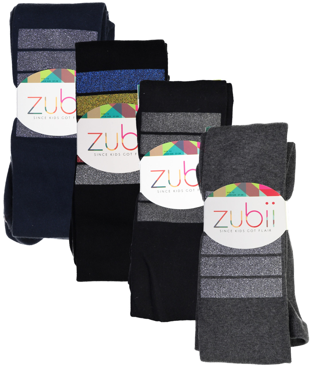 Zubii Girls Colorbar Cotton Tights - 530