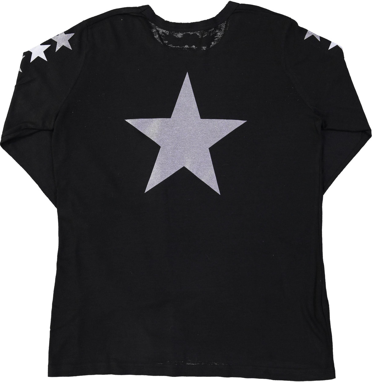 So Nikki Girls StarBack Long Sleeve T-shirt - 1067K-P714B-SLVS/SILVER-STAR-BACK