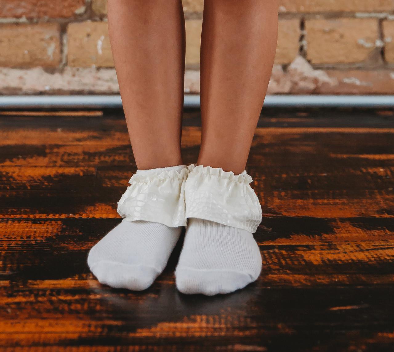 JRP Girls Leather Lace Ankle Sock - ALEA