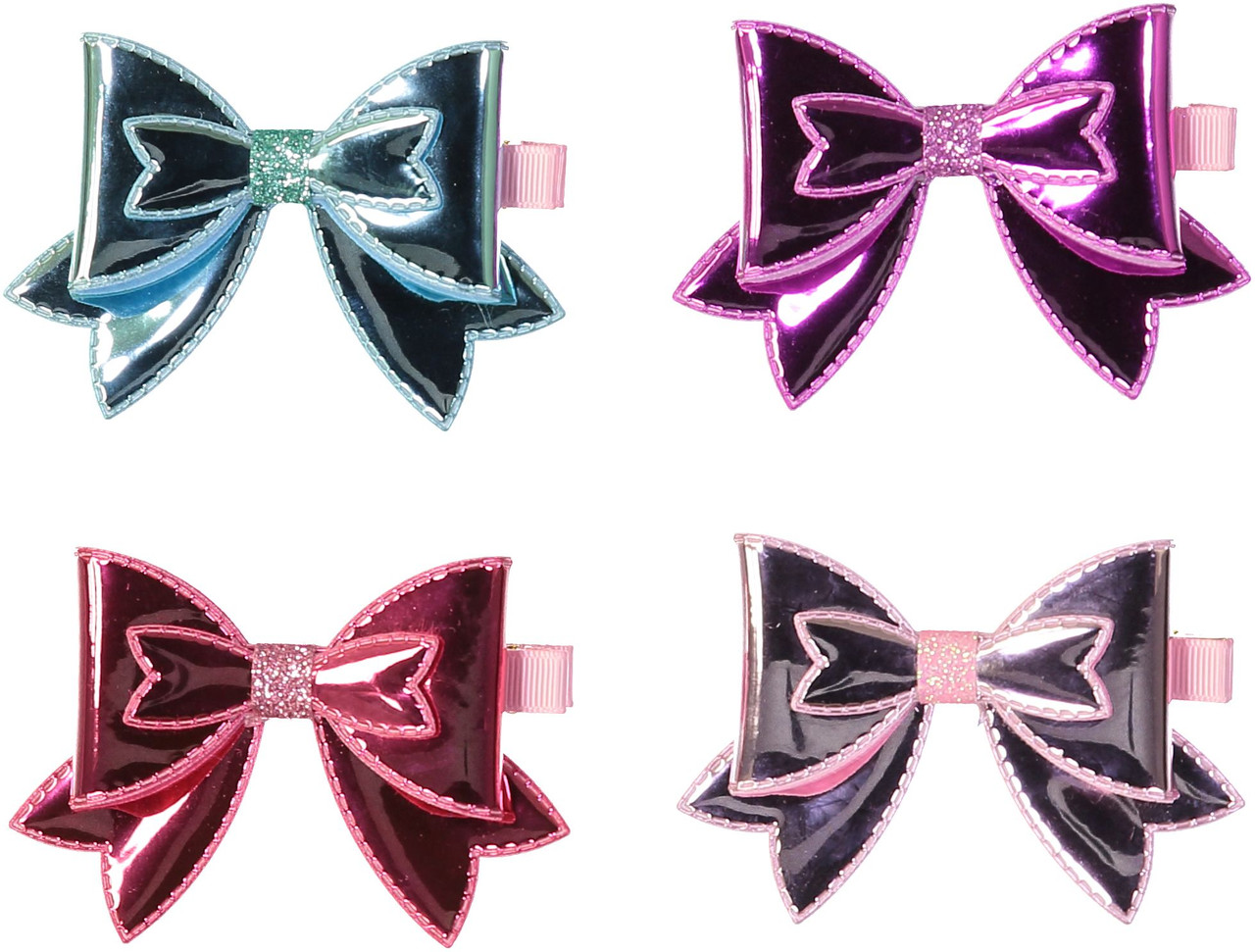 Riqki Metallic Bubble Bow Hair Clip