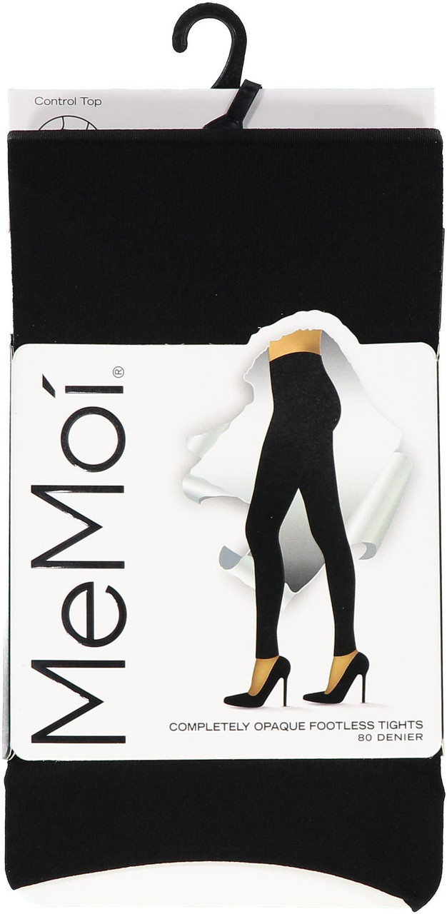 Memoi Womens Complerely Opaque Contol Top Footless Tights - MO-343