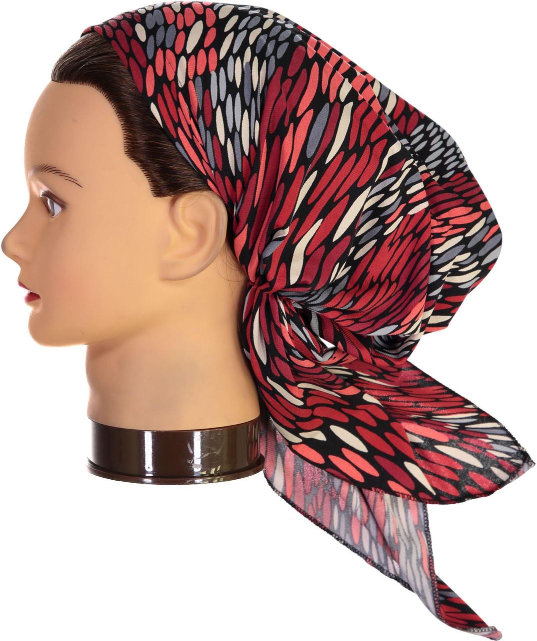 Riqki Womens Red Feather Pre-Tied Bandana - PTBL1042