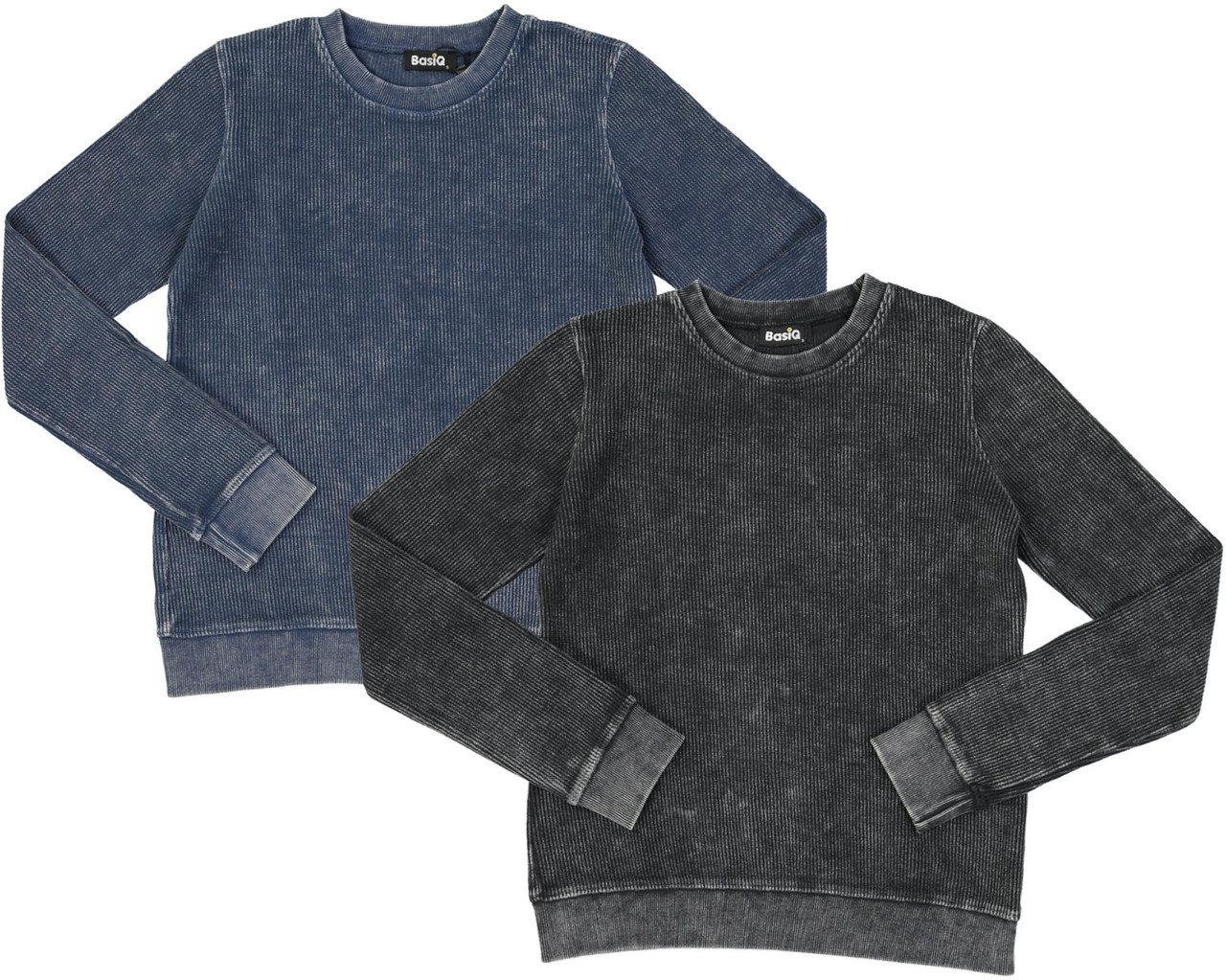Basiq Apparel Womens Denim Wash Crew Sweatshirt - MGG01