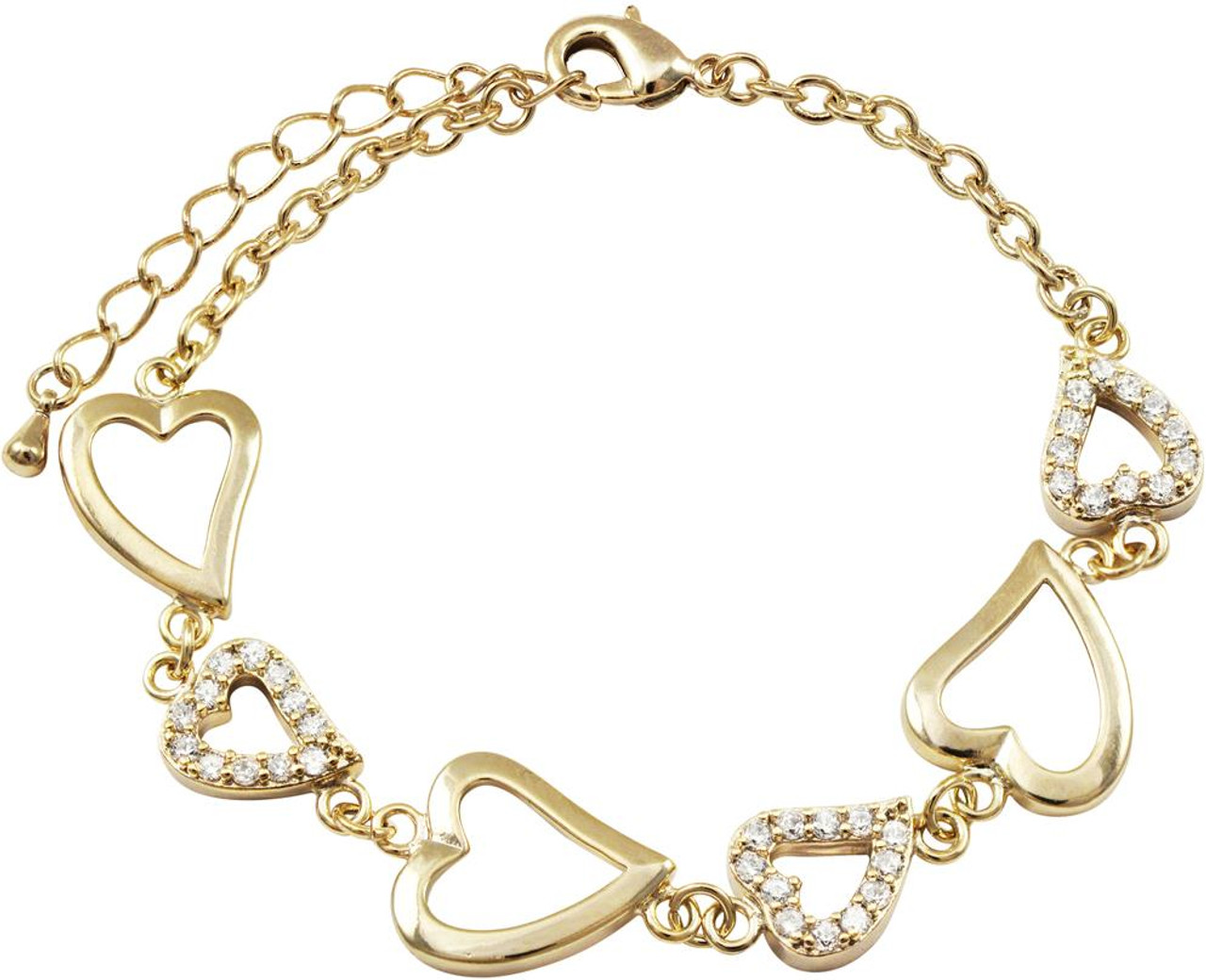 DluxJewels Bracelet - B4580-B-GD