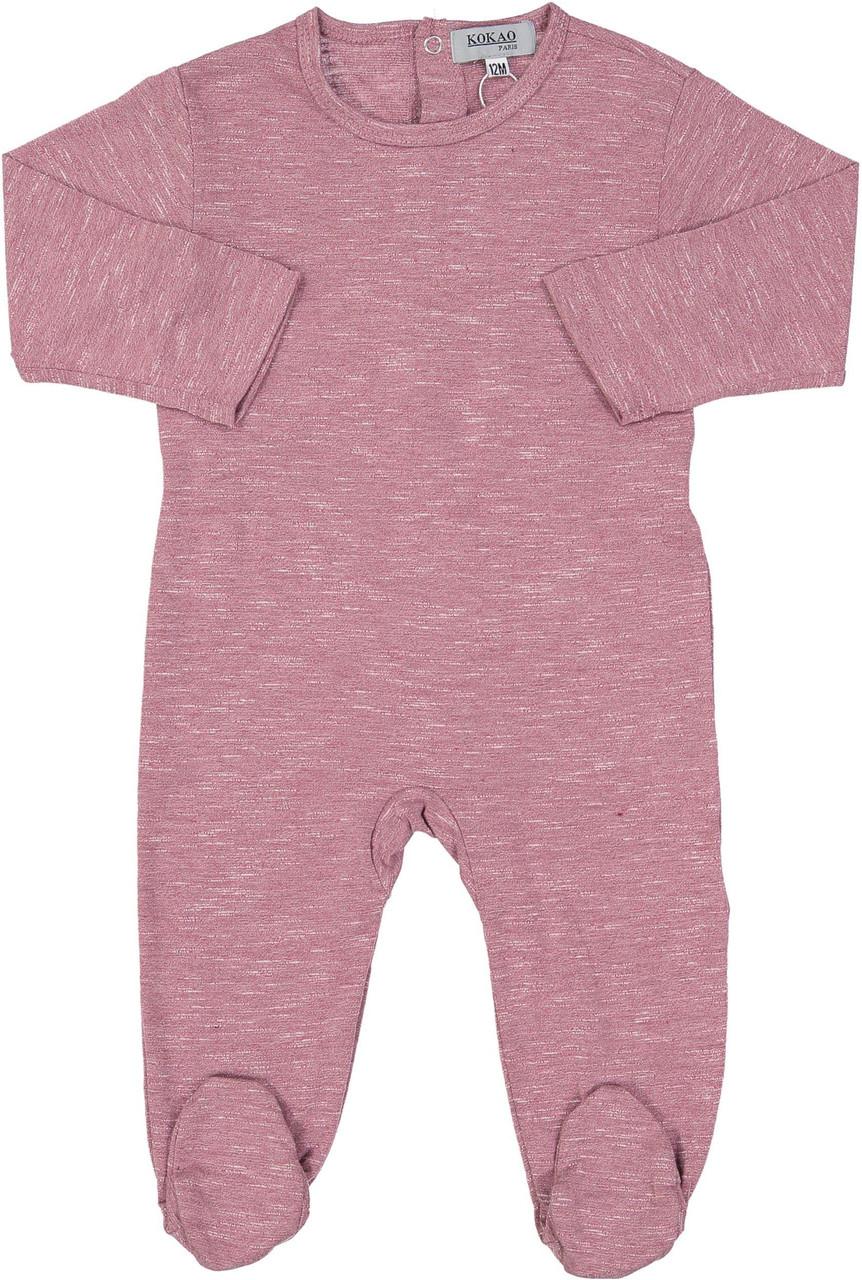 Kokao Baby Girls Heather Cotton Stretchie - PS02B