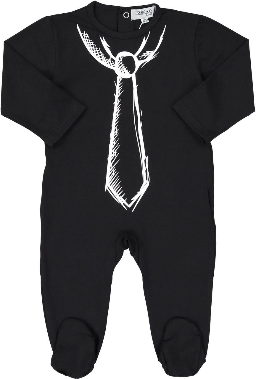 Kokao Boys Tie Print Cotton Pajamas - CS04B