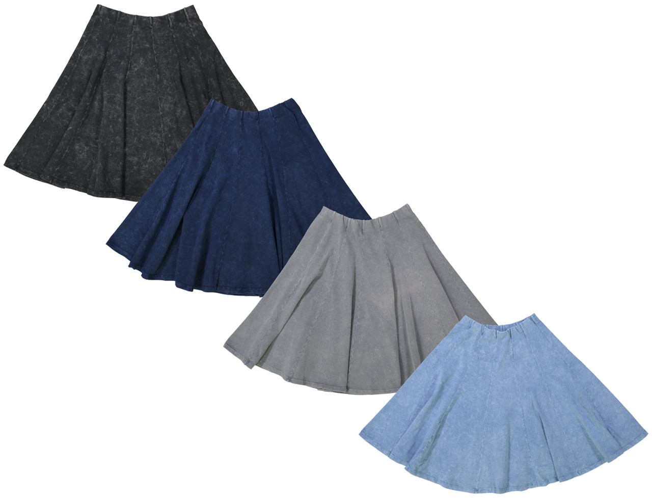 Kiki Riki Stone Wash Ladies Panel Skirt
