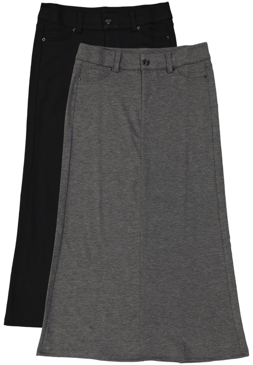 Kiki Riki Long Straight Viscose Skirt