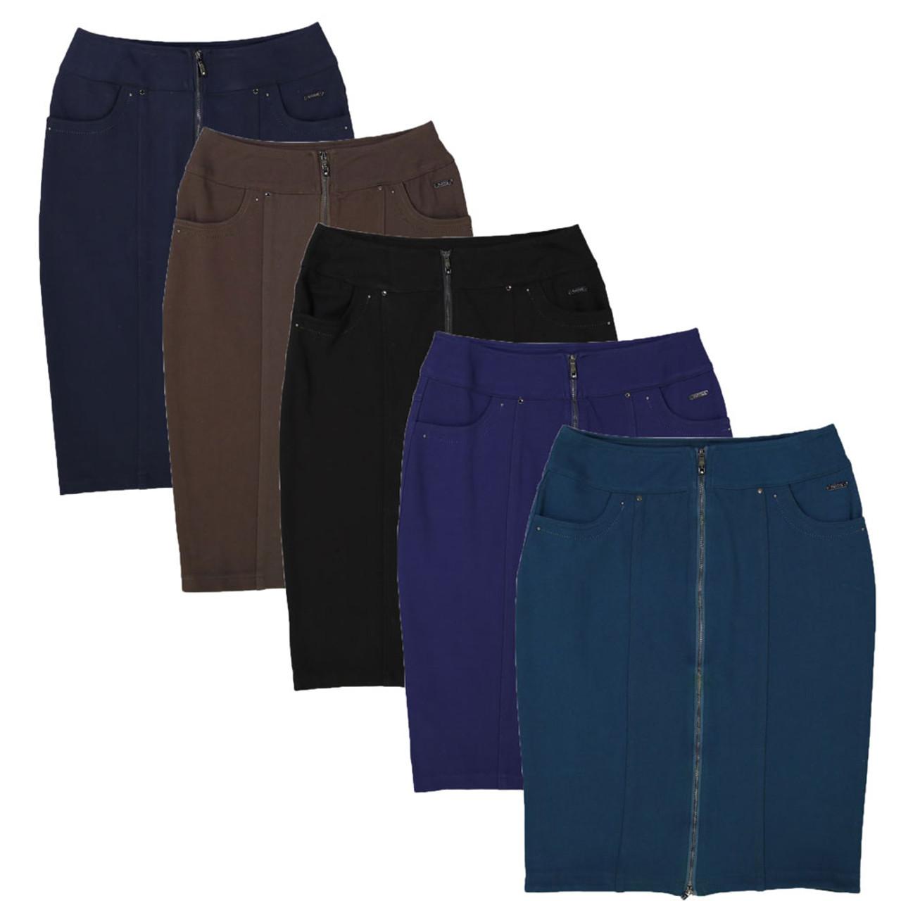 BGDK Womens Zipper Pencil Skirt