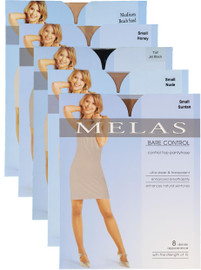 Melas Womens Bare Contol 8 Denier Pantyhose - AS-614