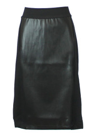 Kiki Riki Women's Leather Panel Skirt