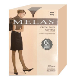 Melas Crystal Sheer Control 6-Pack