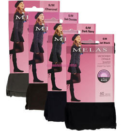Melas Womens Microfiber Opaque 60 Denier Tights - AT-713