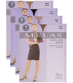 Melas Womens Sheer Shaper 12 Denier Pantyhose - AS-611